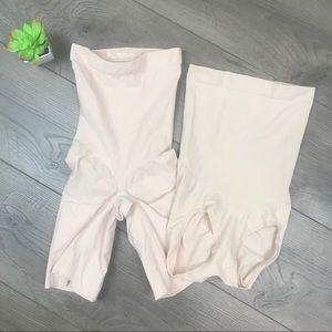 SPANX 2 Pc Undergarment Shaper Bundle Nude Small